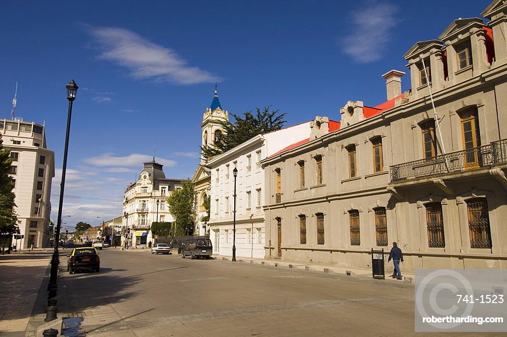 Main square, Punta Arenas, Patagonia, Chile, South America