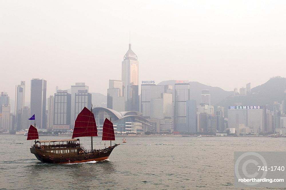 Chinese Junk, Hong Kong, China, Asia