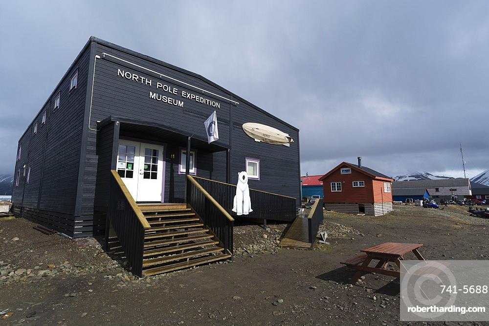 The North Pole Museum, Longyearbyen, Spitsbergen, Svalbard Islands, Arctic, Norway, Europe