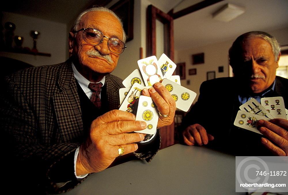 Worker's Society of mutual aid, Tresette game, Sant'agata De Goti, Campania, Italy