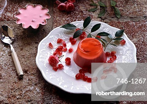 Pomegranate mousse, Italy