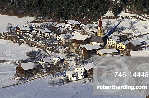 Cityscape, Siusi, Trentino Alto Adige, Italy.