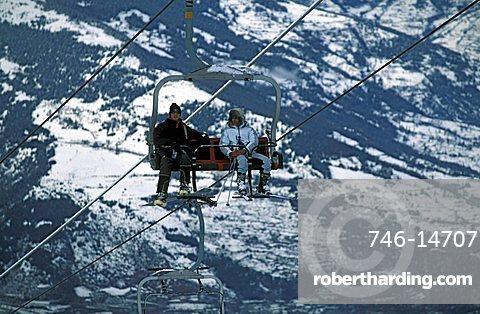 Chair lift, Pila, Valle d'Aosta, Italy