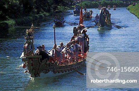 Historical regatta, Riviera del Brenta, Veneto, Italy