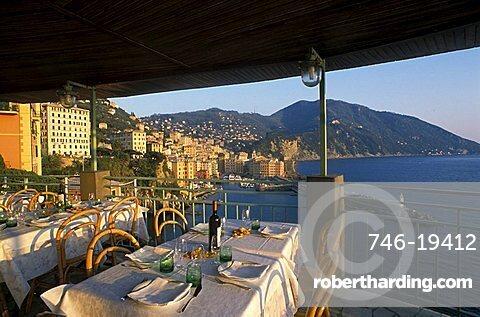 Rosa restaurant, Camogli, Liguria, Italy