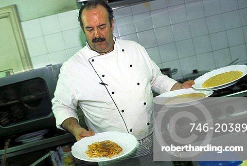 Chef, La Vineria restaurant, Brescia, Lombardy, Italy