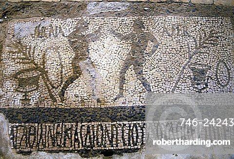 Mosaic, Tindari, Sicily, Italy