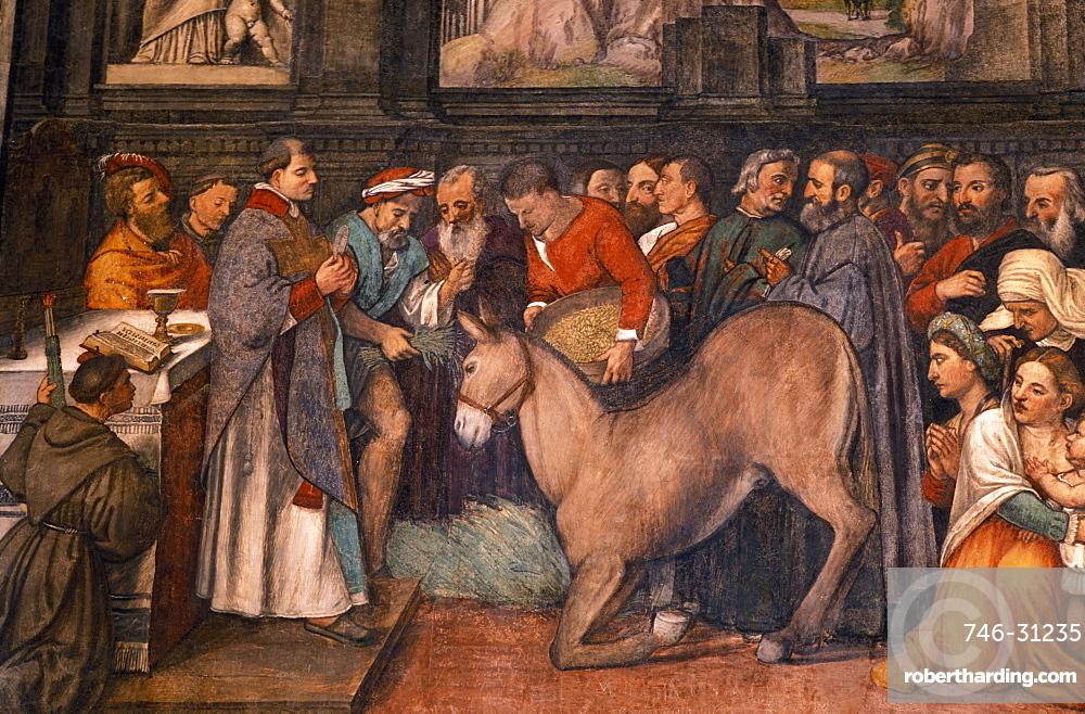 A fresco, Scuola del Santo, Padua, Veneto, Italy
