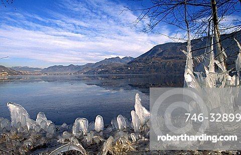 Lake, Caldonazzo, Valsugana, Trentino Alto Adige, Italy