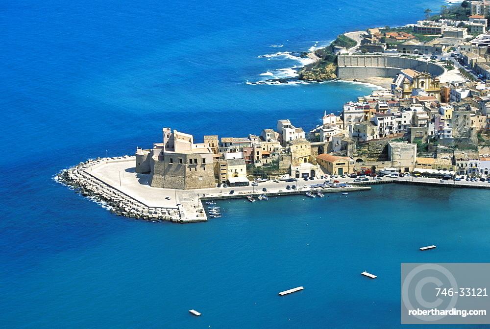 View of Castellammare del Golfo, Sicily, Italy