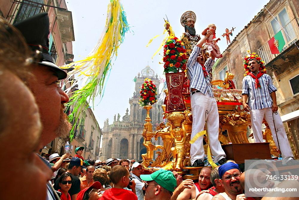 Procession, San Paolo feast, Palazzolo Acreide, Sicily, Italy
