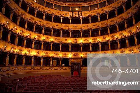 Interior of Teatro Rossini, Pesaro, Marche, Italy