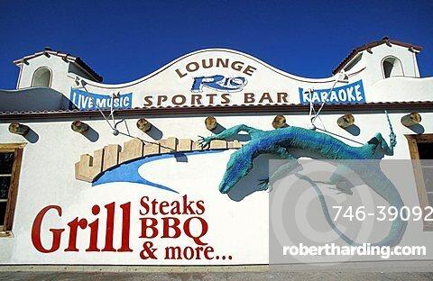 Bar sign, Moab, Utah, United States of America, North America