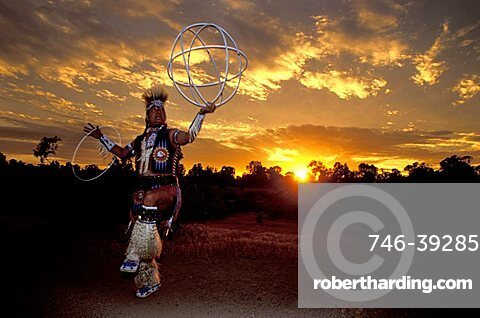 Hopi dance, Papago park, Arizona, United States of America, North America