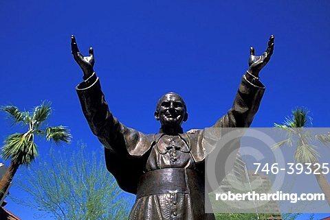 Pope Giovanni Paolo II statue, Phoenix, Arizona, United States of America, North America