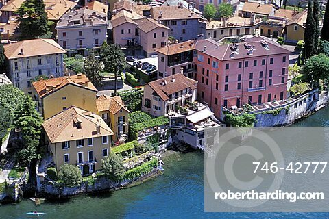 Aerial view, Varenna, Lombardy, Italy