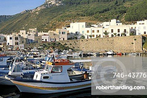 Scalo Vecchio port, Marettimo island, Egadi islands, Sicily, Italy