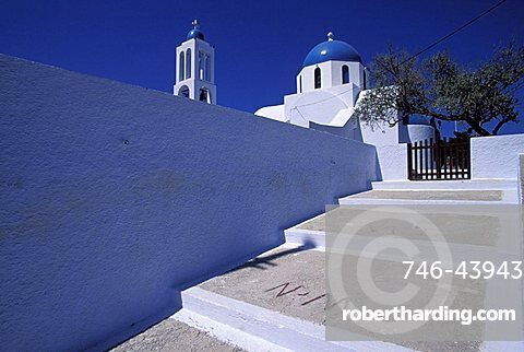 Analipsi monastery, Santorini island, Greece, Europe
