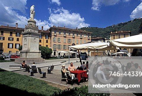 Volta square, Como, Lombardy, Italy