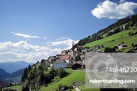 Cityscape, Santa Cristina, Val Gardena, Trentino Alto Adige, Italy