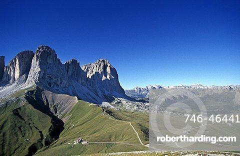 Puez mountain, Sassolungo mountain chain, Trentino Alto Adige, Italy