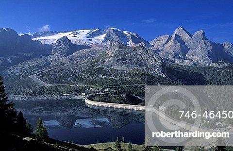 Landscape, Fedaia mountain pass, Val di Fassa, Trentino Alto Adige, Italy