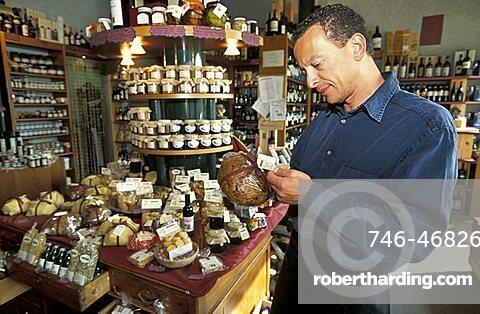 Paolo Sala owner, Il Saraceno shop, Sondrio, Lombardy, Italy