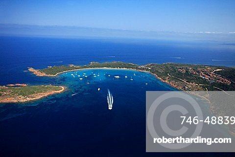 Aerial view, Capo Coda Cavallo, Sardinia, Italy, Mediterranean, Europe