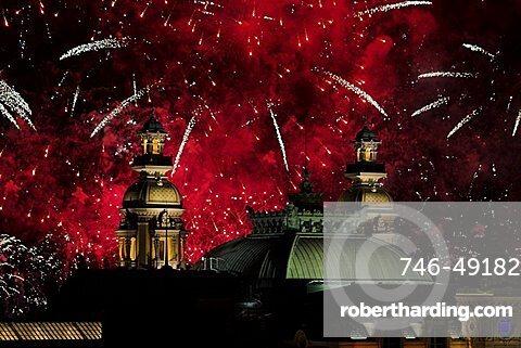 Fireworks over Casino, Monte Carlo, Monaco, Europe