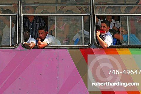 Camellos typical bus, Havana, Cuba, West Indies, Central America
