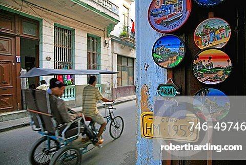 Ciclo-taxi, Havana, Cuba, West Indies, Central America