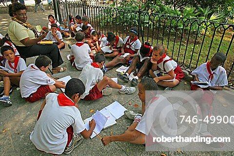Students, Havana, Cuba, West Indies, Central America