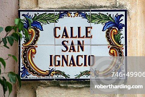 Road sign, Havana, Cuba, West Indies, Central America