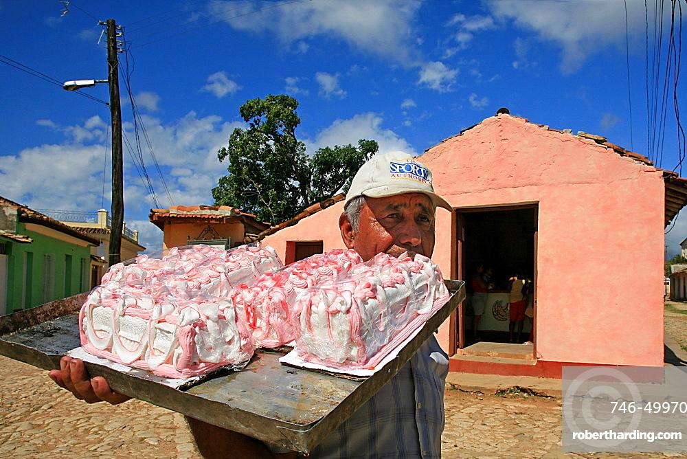 El Dulcero sweets seller, Trinidad, Cuba, West Indies, Central America