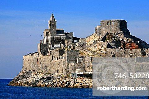 San Pietro church, Portovenere, UNESCO World Heritage Site, Liguria, Italy, Europe