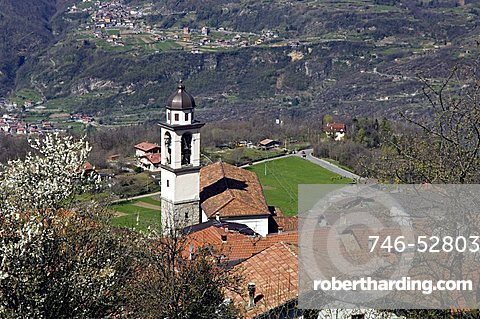 Village view, Cimbergo, Lombardy, Italy