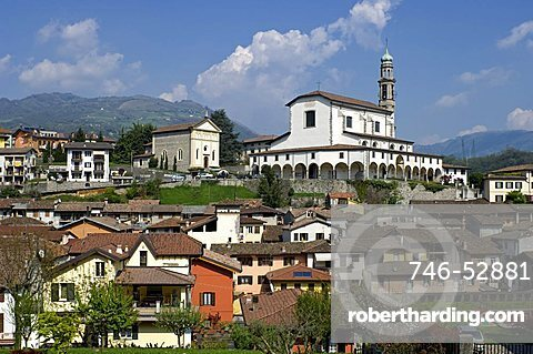 Village view, Vertova, Lombardy, Italy