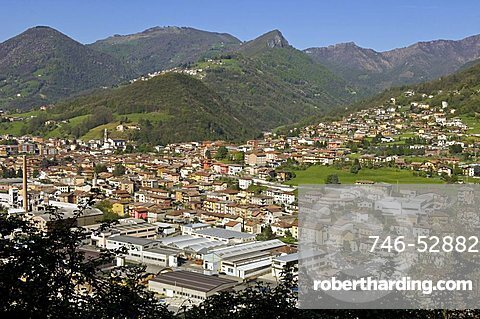 Village view, Colzate, Lombardy, Italy