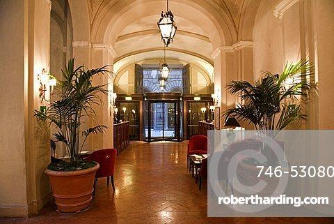 Reception, Grand Hotel Continental, Siena, Tuscany, Italy