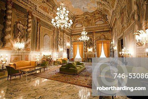 Interior, Grand Hotel Continental, Siena, Tuscany, Italy