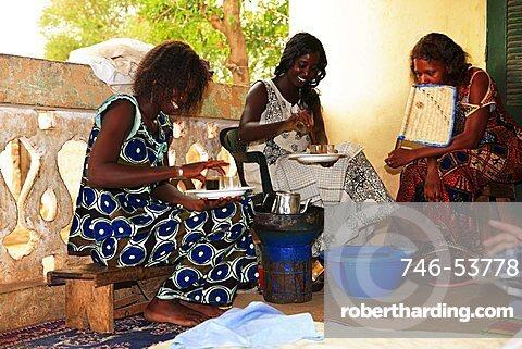 African girls, Kaolack, Republic of Senegal, Africa