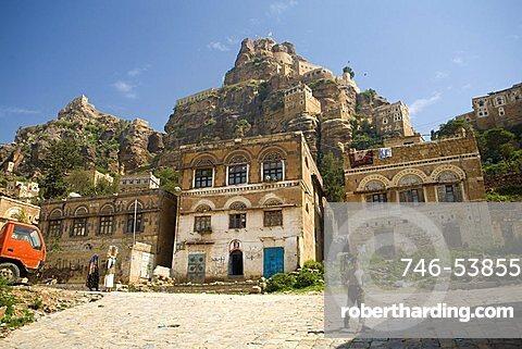 Village view, Al Tawila, Yemen, Middle East