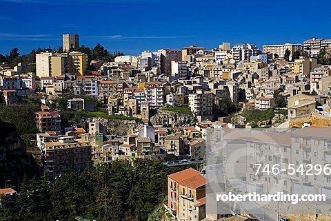 Cityscape, Enna, Sicily, Italy