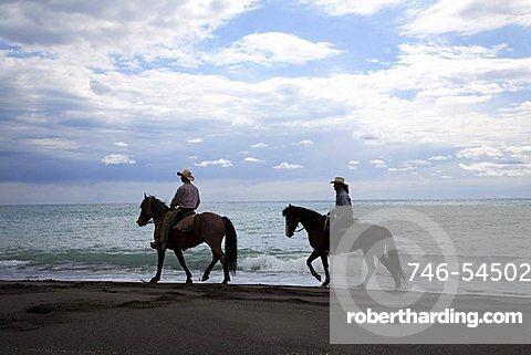 Excursion with horse, Castrocucco beach, Maratea, Basilicata, Italy