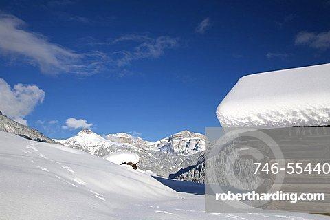 Winter landscape, Fassa Valley, Trentino Alto Adige, Italy
