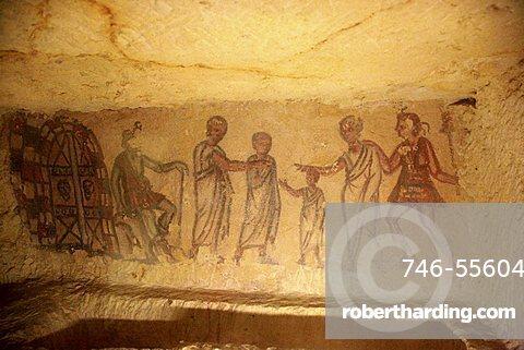 5636 tomb, Archaeological Site, Tarquinia, Lazio, Italy
