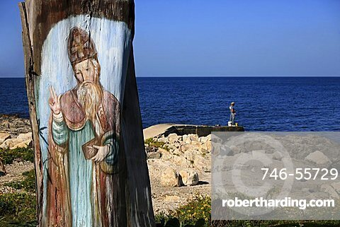 Painted wood, Brucoli, Sicily, Italy
