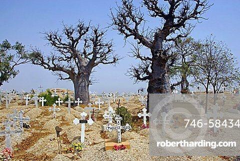 Christian cemetery, Joal-Fadiouth, Republic of Senegal, Africa