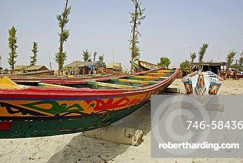 Pirogue fishing boat, Joal-Fadiouth, Republic of Senegal, Africa