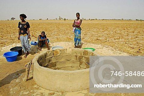 Well in a Peul village, Republic of Senegal, Africa
